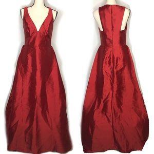 David's Bridal Red Formal Dress in Sz 6
